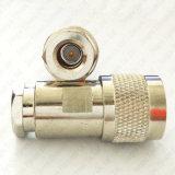 N는 LMR300 5D Fb RG6 RF 동축 케이블 플러그를 위한 남성 죔쇠 연결관을 타자를 친다