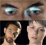 당 Halloween 클럽을%s LED 속눈섭은 3D 가짜 속눈섭을 방수 처리한다