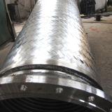 環状の軟らかな金属のホースを編むワイヤー