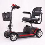 """""""trotinette"""" Handicapped elétrico de dobramento de 4 """"trotinette""""s da mobilidade da roda para pessoas idosas"""