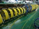 512Hz de Wielen van de Camera van het Riool van de zender en het Hulpmiddel van het Loodgieterswerk van de Camera van de Inspectie van de Pijpleiding van het Afvoerkanaal met de Kabellengte V8-3388PT van de Vezel van 60m