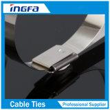 Banden de van uitstekende kwaliteit van de Kabel S/S van het Roestvrij staal met Vrij Eind 4.6X400mm van de Bal