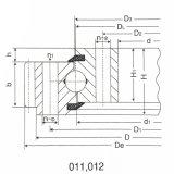 Roulements externes d'oscillation de rouleau de grue à tour/de vitesse combinaison de bille