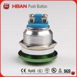commutateur de bouton poussoir de tête de champignon de couche de 16mm, bouton poussoir momentané