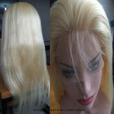 Lacet de grands de chapeau de 613# Glueless plein cheveux brésiliens de femmes de couleur