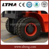 Carretilla elevadora diesel hidráulica manual de la carretilla elevadora 5t de Ltma con los neumáticos delanteros duales