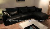 Divany Furniture Conjunto de sofá de couro moderno D-74-B + D (R) + E (L)