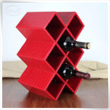 Personifizierter PU-lederner Verpackungs-Wein schachtelt Wein-Zahnstange