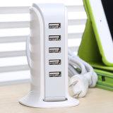 Chargeur universel de téléphone cellulaire de 5 ports USB 5V 6A pour l'iPhone et la tablette androïde
