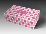 De encargo de gama alta del regalo del papel de embalaje de la caja Negro Vestido, joyería, alimentos