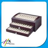 Pluma caliente de la venta que empaqueta la caja de presentación de madera con la tapa de cristal Hx125
