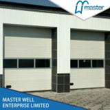 Commercial UseのためのWindows Inserted Galvanized Steel Stripe Industrial Door