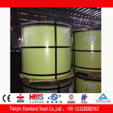 Bobina de aço Prepainted amarela Pastel PPGI de Ral 1034