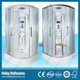 Venta caliente de la cabina de ducha con doble rueda de rodillos para puerta corrediza (SR213W)