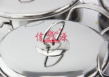 Lid (FT-1830)のステンレス製のSteel Double Handle Cookware Set