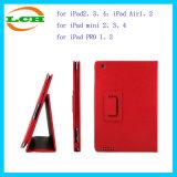 iPadのための立つことの革スマートなタブレットの箱