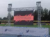 Tarjeta al aire libre de la muestra del alquiler LED de SMD3535 P6/pared video (el panel de 576X576m m)