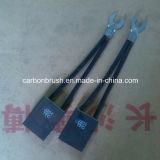 Procurando as escovas de carbono finas J201 da grafita do metal da qualidade para o motor do guindaste de YZR