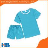 면 t-셔츠 순수한 색깔 옷 및 형식 한 벌