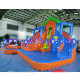 10 Meter High Adults Giant Inflatable Water Slide mit Pool/Inflatable Slide Games