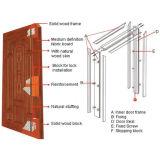 Preço barato portas de madeira de aço cinzeladas