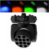 DMX512 12X10W RGBW 4in1 광속 세척 LED 이동하는 헤드
