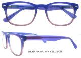 Bâti en bois en verre de Plein-RIM de lunetteries optiques unisexes fabriquées à la main de Vinage
