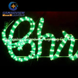 "生気に満ちた104cmの""陽気なChristmas"" Red Green Sign Motif Rope Lights"