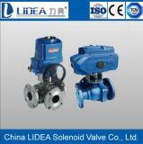Type électrique valve de bride de contrôle automatique de la boule roulante d'acier inoxydable