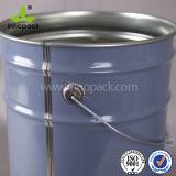 25 litres position de peinture estampée 6 par gallons en métal avec le couvercle de bord de fleur