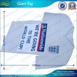 Shirt-Form-kundenspezifisches Firmenzeichen gedruckte riesige Markierungsfahne (M-NF11F06002)