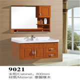 Wall Mounted en gros Wood Material Bathroom Vanity avec Side Cabinet