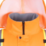 Rivestimento di sicurezza del bombardiere di visibilità del Workwear riflettente di inverno alto