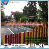 Gebildet im China-quadratische Gummifliese-im Freiengummi deckt Gymnastik-Fußboden-Matten-Spielplatz-Gummibodenbelag mit Ziegeln