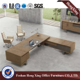 L Shape Melamine Executive Desk con Metal Leg Hx-6m070