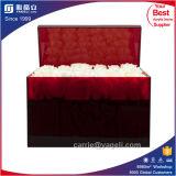 Prender a caixa acrílica das rosas da cor feita sob encomenda de 36PCS Rosa com tampa