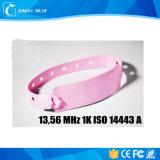 Wegwerf-ISO 14443 RFID Belüftung-13.56MHz 1k ein Armband