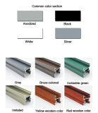 Ventana de aluminio blanca del perfil UPVC
