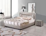 Кровать неподдельной кожи фабрики 100%