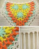 Beachwear Handmade multicolore del Halter delle signore della frangia sexy del collo