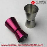 Jigger di misura del cocktail del doppio dell'acciaio inossidabile dell'elemento della barra