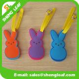 ウサギの漫画PVCゴム製荷物の札(SLF-LT053)