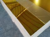 blad van de Spiegel van het Plexiglas van het Blad van de Spiegel van 3mm het Gouden Acryl Plastic