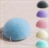 Colorir a esponja Konjac macia natural /Facial que limpa a esponja
