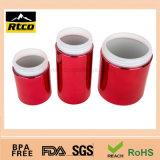 Банка пластмассы бутылки цветастых материалов HDPE пластичная