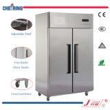 double type de la température 1.5LG congélateur de réfrigérateur droit d'acier inoxydable de porte de la qualité 2 avec du CE