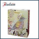 Подгоняйте с мешком подарка покупкы руки бумаги цвета слоновой кости птиц яркия блеска