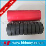 Rouge en caoutchouc assurément Huayue de noir de couleur du diamètre 89-159mm de rouleau de système de ceinturer de convoyeur de qualité