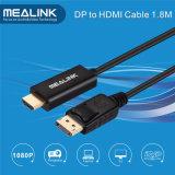 1.8m Gold überzogenes Displayport DP zum HDMI Kabel