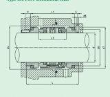 O selo mecânico aplica-se ao agente corrosivo (HUU801)